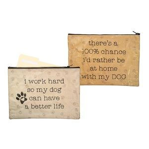 Home With My Dog Multipurpose Folder Pouch Bag NWT